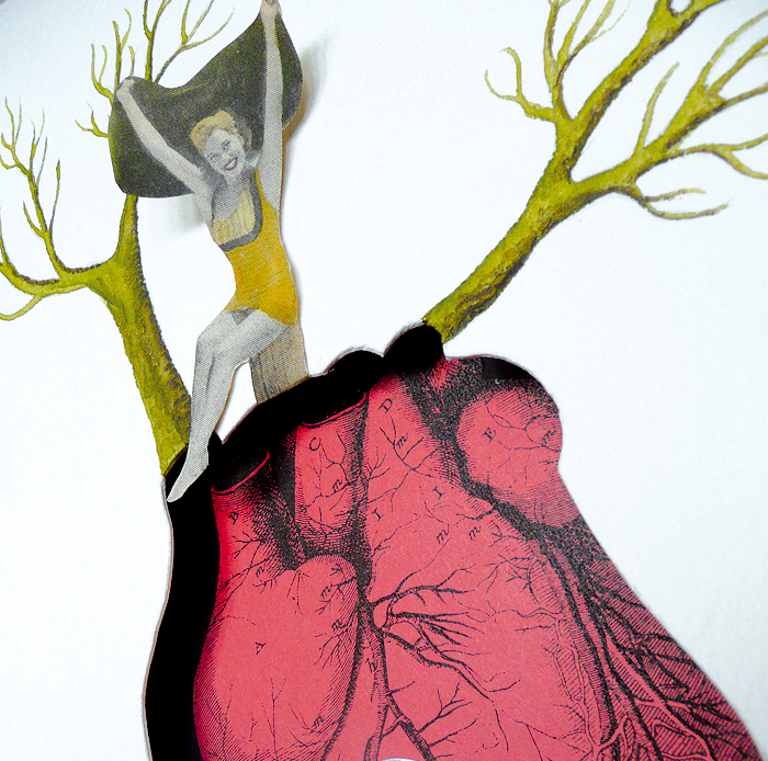 Corazón banal - collage -marisamaestre