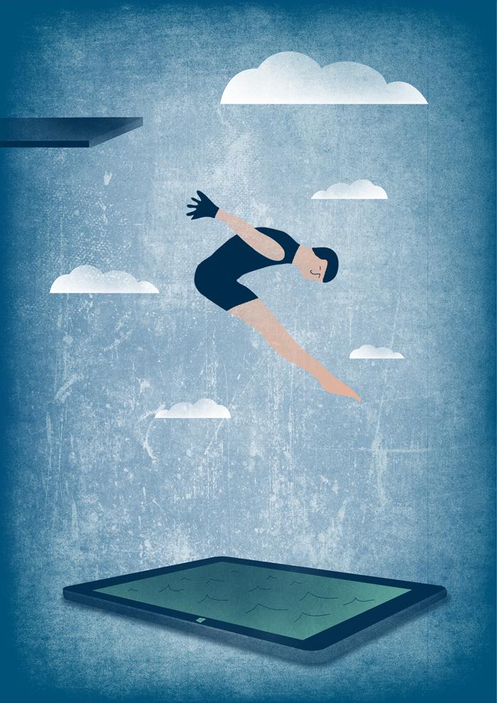 Illustration Microsoft -collage - Marisa Maestre