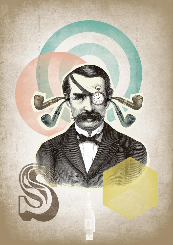 ilustracion Sony - collage - Marisa Maestre