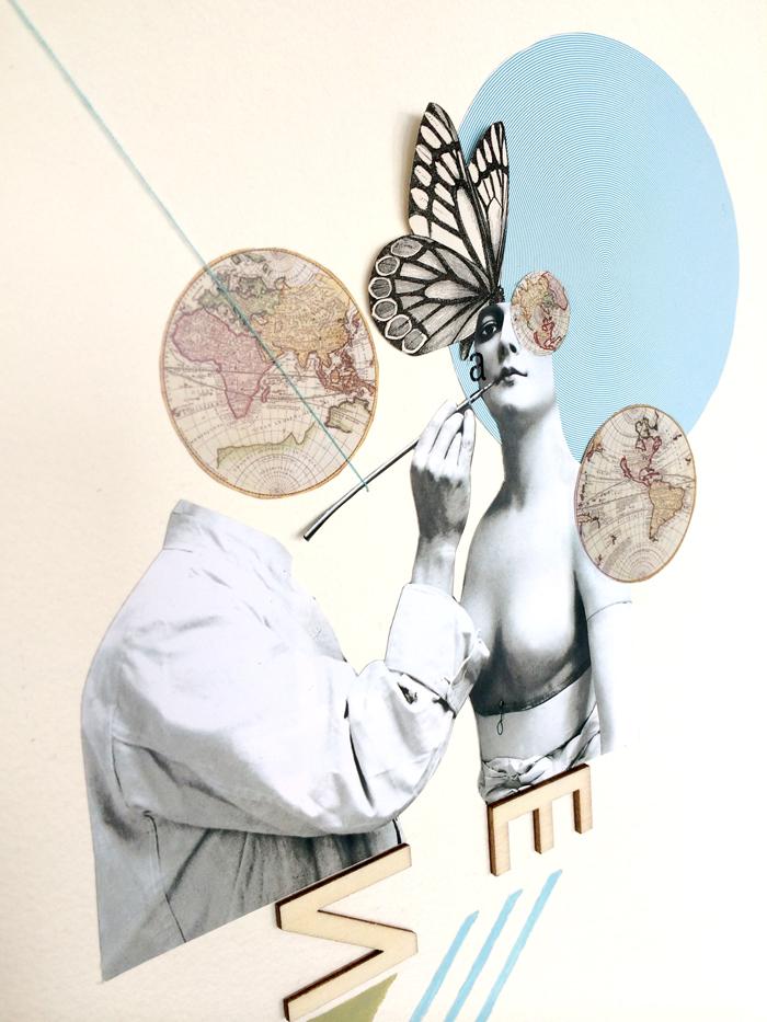 La creación - collage -marisamaestre