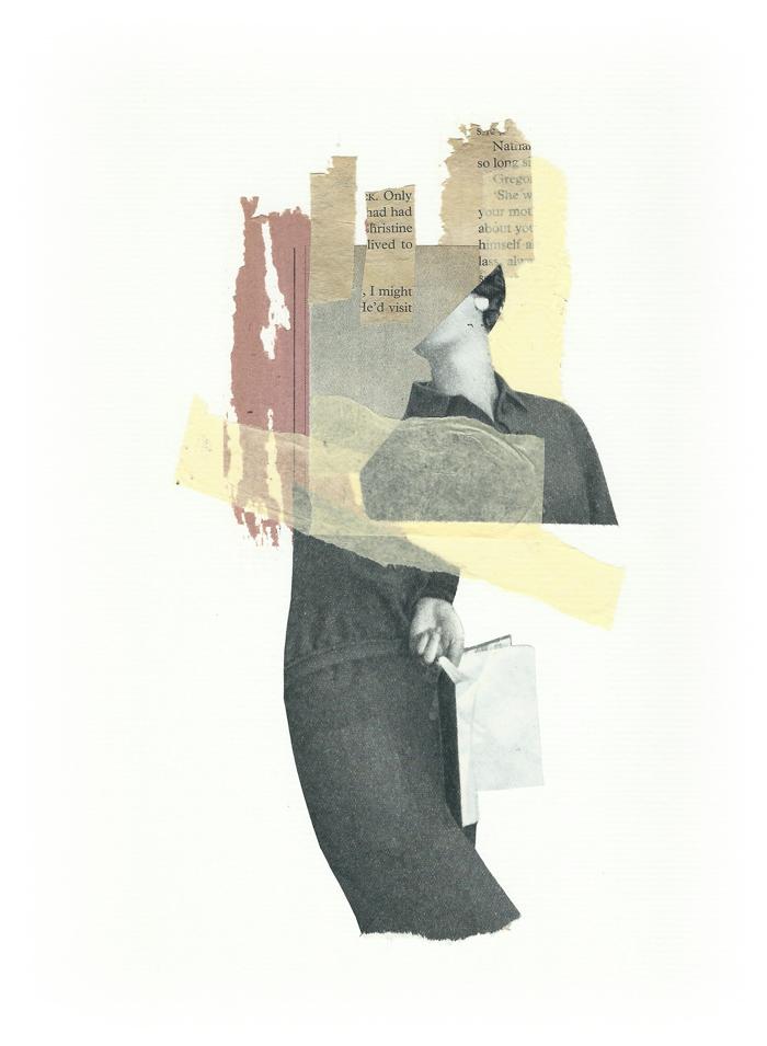 Un libro en blanco - collage - Marisa Maestre