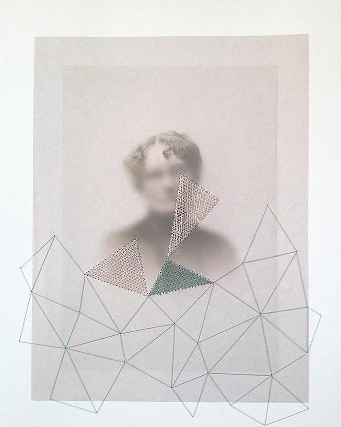 collage geometría feminista