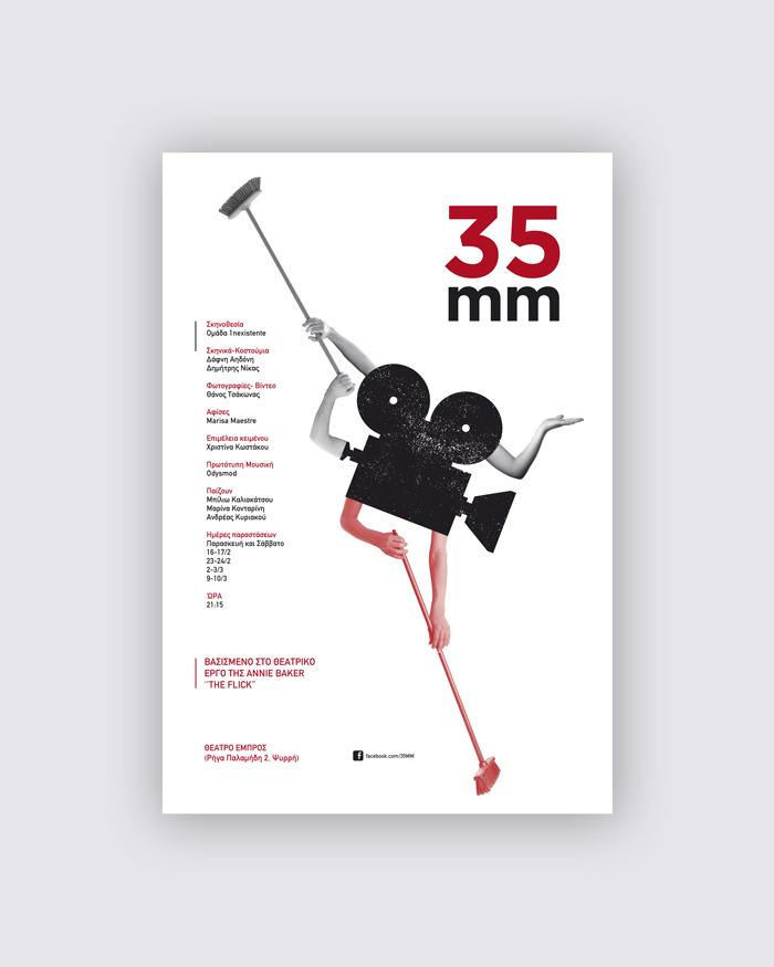 Cartel obra de teatro 35MM