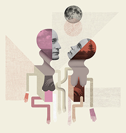 Ilustración mural «te regalo la luna»