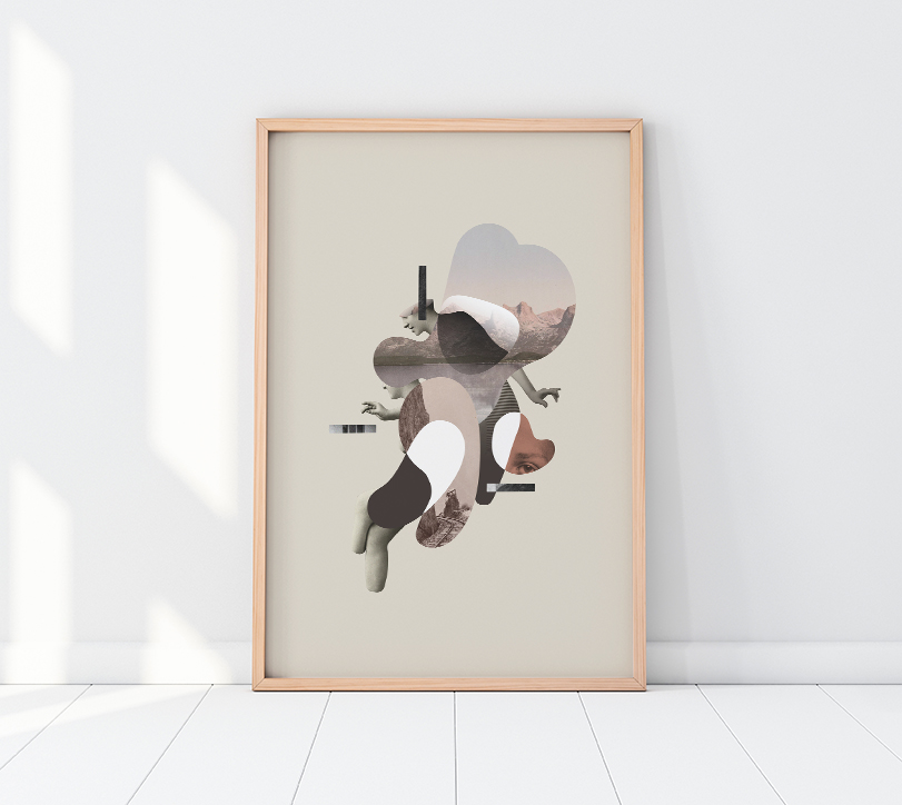 Collage digital print